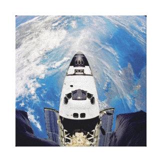Impressão Em Tela Órbita de terra de Atlantis do vaivém espacial da