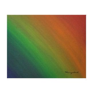 Impressão Em Tela Orgulho original de bronze de Ombre do arco-íris