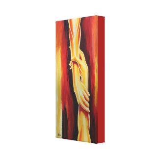 Impressão Em Tela Original as mãos da pintura da esperança
