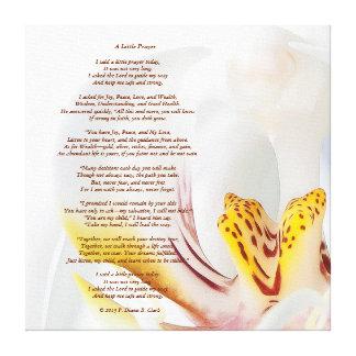 """Impressão Em Tela """"Orquídea 24x24 de uma oração pequena"""""""