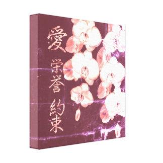 Impressão Em Tela Orquídeas japonesas