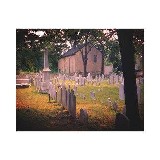 Impressão Em Tela Os anos 50 assustadores da foto do cemitério do