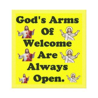 Impressão Em Tela Os braços do deus da boa vinda estão sempre