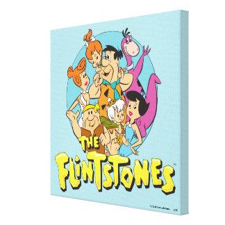 Impressão Em Tela Os Flintstones e o gráfico da família dos Rubbles