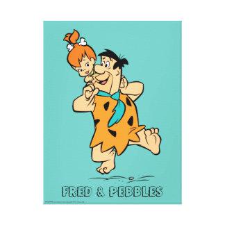 Impressão Em Tela Os Flintstones | Fred & Flintstone dos seixos