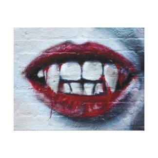 Impressão Em Tela Os grafites na moda abstratos fecham-se acima da
