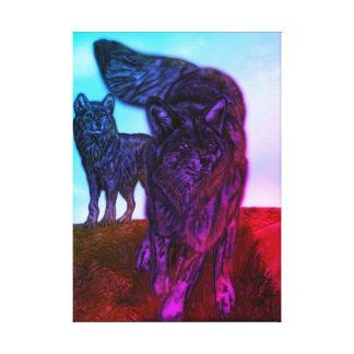 Impressão Em Tela Os lobos da luz do sol