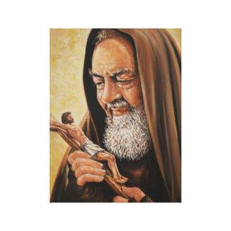 Impressão Em Tela Padre de Jesus do crucifixo do Pio do padre do