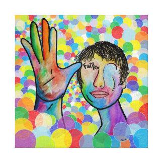 Impressão Em Tela PAI do ASL no fundo brilhante da bolha