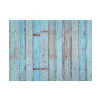 Impressão Em Tela Painel de madeira azul pintado da praia