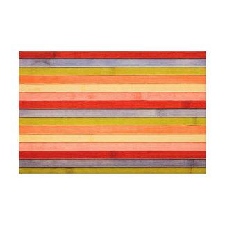 Impressão Em Tela Painel de madeira pintado da praia do arco-íris