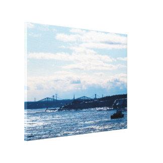Impressão Em Tela Paisagem brilhante de St Lawrence River