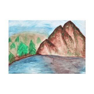 Impressão Em Tela Paisagem da montanha
