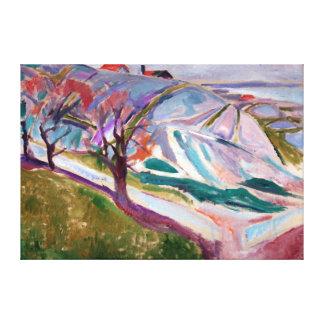 Impressão Em Tela Paisagem de Edvard Munch, Kragerø