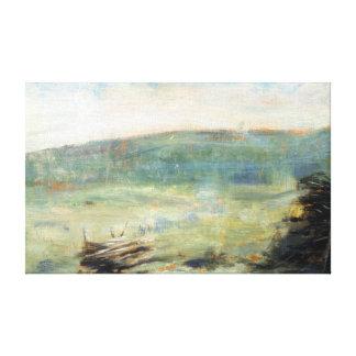 Impressão Em Tela Paisagem de Georges Seurat no Santo-Ouen