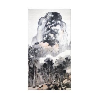 Impressão Em Tela Paisagem de Tani Buncho