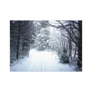Impressão Em Tela Paisagem do inverno