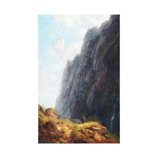 Impressão Em Tela Paisagem e Milkmaid da montanha de Carl Spitzweg
