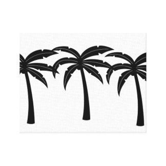 Impressão Em Tela Palmeiras tropicais