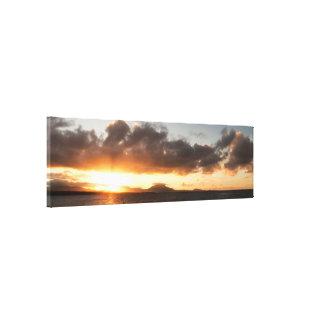 Impressão Em Tela Panorama do por do sol