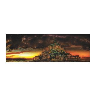 Impressão Em Tela Panorama do Saint-Michel de Mont