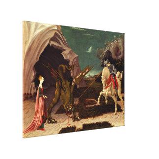 Impressão Em Tela PAOLO UCCELLO - St George e o dragão 1470