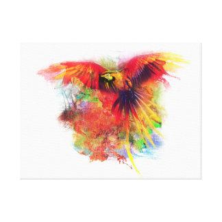 Impressão Em Tela Papagaio