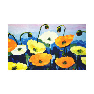 Impressão Em Tela Papoilas coloridas do Watercolour original
