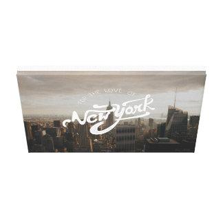 Impressão Em Tela Para o amor do poster tipográfico de New York |