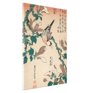 Impressão Em Tela Pardal de Hokusai Java na arte de GalleryHD da
