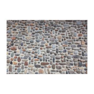 Impressão Em Tela Parede de pedra do seixo do mosaico