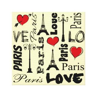 Impressão Em Tela Paris