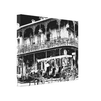 Impressão Em Tela Passeio da carruagem de Nova Orleães - arte das