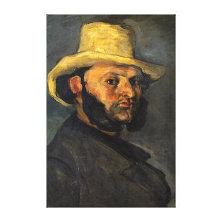 Impressão Em Tela Paul Cezanne Gustave Boyera em um chapéu de palha