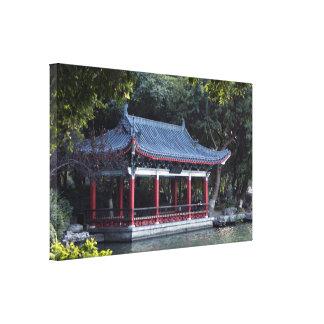 Impressão Em Tela Pavilhão, lago Ronghu, Guilin, China
