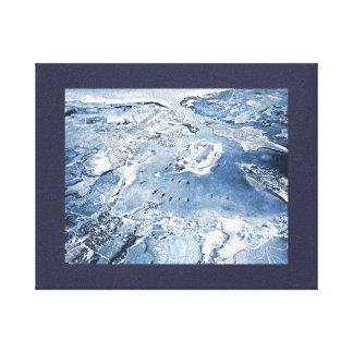 Impressão Em Tela Pearl Harbor aéreo em direção ao sul da vista