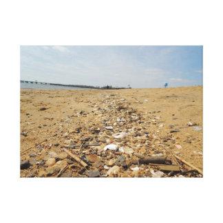 Impressão Em Tela Pedras na areia