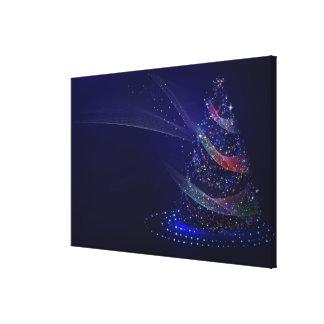 Impressão Em Tela Pele-árvore azul brilhante do Natal