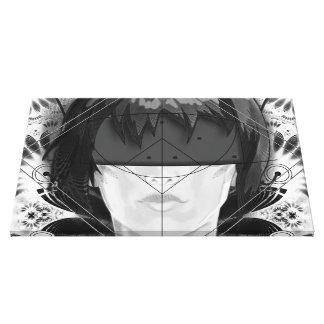 Impressão Em Tela Penas bonitas do Fractal de BnW para Motoko