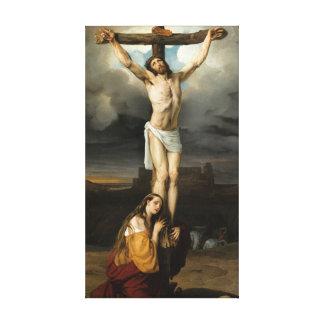 Impressão Em Tela Penitente Magdalene no pé da cruz