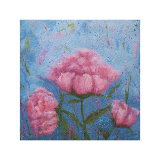 Impressão Em Tela Peônias cor-de-rosa