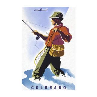 Impressão Em Tela Pesca do vintage no viagem de Colorado