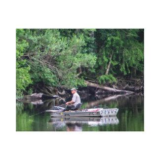 Impressão Em Tela Pesca no rio de Ocklawaha