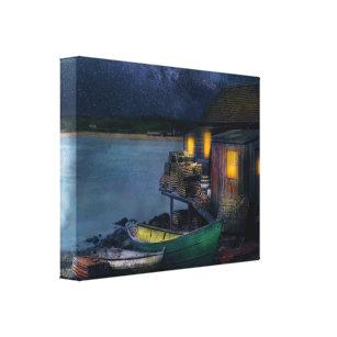 Impressão Em Tela Pescador - a cabine 1915 do pescador