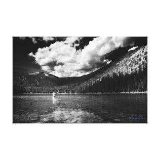 Impressão Em Tela Pescador de Montana