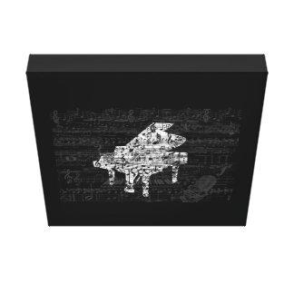Impressão Em Tela piano