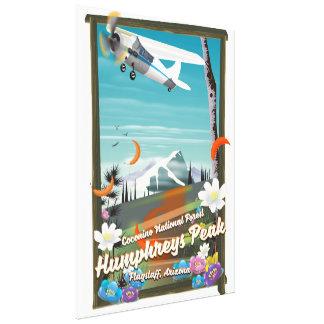 Impressão Em Tela Pico de Humphreys, pico de Humphreys, mastro,