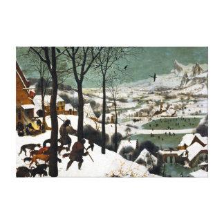 Impressão Em Tela Pieter Bruegel os caçadores mais velhos na neve