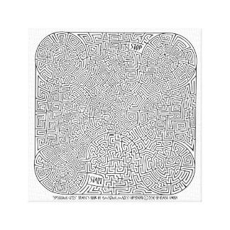 Impressão Em Tela Pilhas de rachadura - uma criação de Blaise Gauba