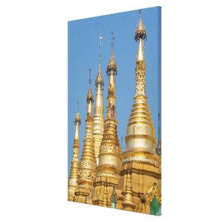 Impressão Em Tela Pináculos do pagode de Shwedagon